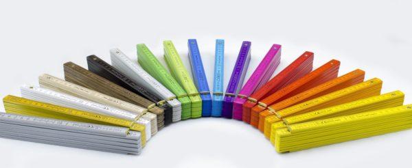 farbiges Doppelmeter
